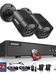 cheap -ANNKE® 4CH DVR 2Pcs 720P Camera Home Waterproof Surveillance Security System with IR Night Vision