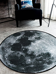 cheap -Modern Area Rugs Polyester Floral Round