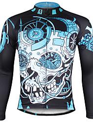 ILPALADINO Maglia da ciclismo Per uomo Manica lunga Bicicletta Maglietta/Maglia Top Asciugatura rapida Resistente ai raggi UV Traspirante