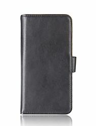 Недорогие -Для xiaomi redmi примечание 4x mi 6 держатель карты бумажник флип-чехол полный корпус корпус сплошной цвет твердый натуральная кожа для