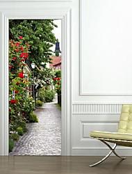 abordables -Paysage Stickers muraux Autocollants muraux 3D Autocollants muraux décoratifs, Vinyle Décoration d'intérieur Calque Mural Mur