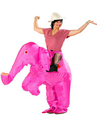 cheap -Pink Inflatable Costume Funny Elephant Performance Annual Party Hilarious Elephant Carnival Costume Event & Party Supplies