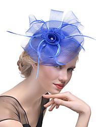 Недорогие -Жен. Шапки Однотонные Сетка Elegant Мода Заколка Стразы