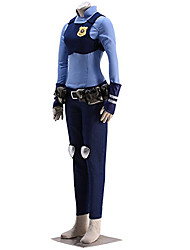 cheap -Inspired by Zoo Rabbit Judy CostumeAnime Cosplay Costumes Cosplay Suits Print Blue Shirt / Breastplate / Pants / Gloves / Belt / Kneepad / Bag