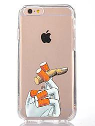 preiswerte -Für iPhone X iPhone 8 Hüllen Cover Transparent Muster Rückseitenabdeckung Hülle Cartoon Design Weich TPU für Apple iPhone X iPhone 8 Plus