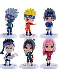 preiswerte -Anime Action-Figuren Inspiriert von Naruto Naruto Uzumaki PVC 7*7*6.5 CM Modell Spielzeug Puppe Spielzeug