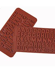 economico -muffa di cottura Alfabetico per la torta per il cioccolato per Candy Silicone 3D Compleanno Vacanze