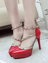 Da donna-Tacchi-Formale Serata e festa-Comoda Club Shoes-A stiletto-Finta pelle-Nero Grigio Rosso Rosa