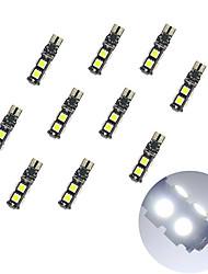 Недорогие -10pcs t10 расшифровывание 9 * 5050 smd chalkboard вело свет электрической лампочки dc12v электрической лампочки автомобиля