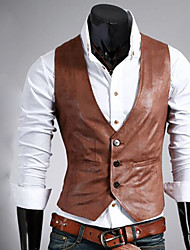 Going out PU Suit Vest with Pocket