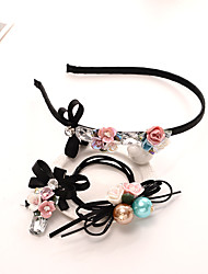 cheap -The High-end Handmade Colored Ceramic Flower is Decorated With a Hair Hoop and Two Hairpins and Two Hair Clips of the Bridal Gown