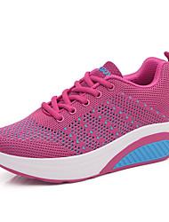 Недорогие --Для женщин-Для прогулок Повседневный Для занятий спортом-Тюль-На плоской подошве-Удобная обувь Туфли Мери-Джейн Пинетки-Кеды