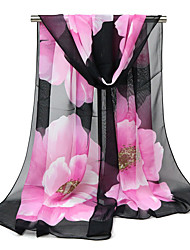 cheap -Women's Holiday Chiffon Rectangle - Floral Mesh