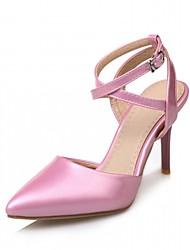baratos -Mulheres Sapatos Courino Couro Ecológico Verão Outono Conforto Inovador Sapatos clube Sapatos formais Saltos Caminhada Salto Agulha Dedo