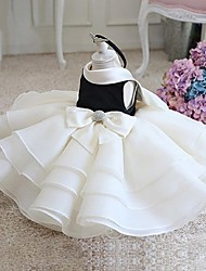 cheap -Ball Gown Short / Mini Flower Girl Dress - Organza Sleeveless Jewel Neck with Bow(s) Crystal Detailing Ruching by YDN