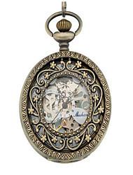 baratos -Homens Relógio Esqueleto Relógio de Bolso relógio mecânico Automático - da corda automáticamente Lega Banda Analógico Prata - Prata