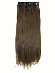 cheap -False Hair Extension 11 Clips Clip in Hair Extensions Synthetic Hair Apply Hairpiece 22 Long Straight Hairpieces D1020 2/30#