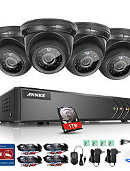 cheap -ANNKE® 4CH 4PCS 720P HD Video 4 in 1 DVR Home Weatherproof Surveillance Security System 1TB with Remote Access