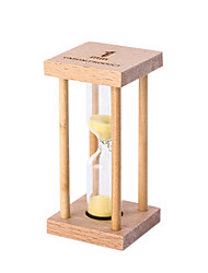 cheap -Small Hourglass Pendulum Countdown 1/3 / 5 Minutes Time Mini Glass Wood Gift
