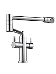 cheap -Kitchen faucet - Contemporary Chrome Pot Filler Centerset