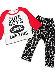 Unisex Going out Casual/Daily Sports Leopard Print SetsCotton Winter Spring Fall Long Sleeve Clothing Set Boy Girls Clothes