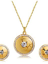 Ciondoli Collana Orecchini Set Zirconi Di tendenza Euramerican Zircone cubico Lega Rotondo 1 collana 1 paio di orecchini PerMatrimonio