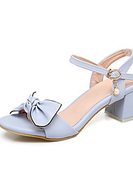 Da donna-Sandali-Matrimonio Formale Serata e festa-Cinturino alla caviglia Scarpe Flower Girl Tacchi Piccoli per adolescenti-Quadrato-PU