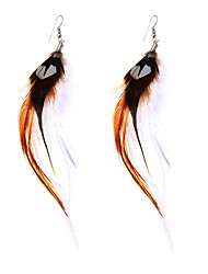 cheap -lureme® Drop Earrings Jewelry Basic Unique Design Punk Stretch Luxury Feather Alloy Geometric Wings / Feather Jewelry ForParty