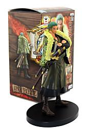 abordables -Las figuras de acción del anime Inspirado por One Piece Roronoa Zoro PVC CM Juegos de construcción muñeca de juguete