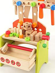 baratos -Ferramentas de Construção Ferramentas de Brinquedo Caixas de Ferramentas Brinquedos Segurança Madeira Infantil Rapazes Para Meninos Peças