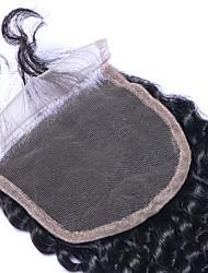22inch braizlian viziosa chiusura riccia migliori chiusura del merletto brasiliana vergine nodi candeggiati chiusure libero medio /