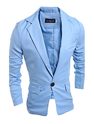 cheap -Men's Blazer-Solid Colored Stand / Long Sleeve