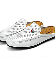 cheap -Men's Shoes Pigskin Spring / Summer Comfort Loafers & Slip-Ons Walking Shoes White / Black / Brown / Wedding / Party & Evening