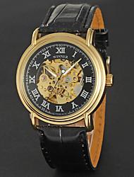 Winner Men's Fashion Leisure Swiss Cut-Out Fully Automatic Mechanical Watch