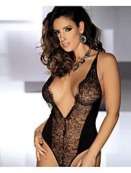 economico -Da donna Vestiti con corsetto Indumenti da notte,Sottile Nylon-Sexy Jacquard Nero