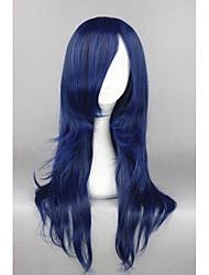 abordables -Pelucas sintéticas / Pelucas de Broma Recto Pelo sintético Azul Peluca Mujer Media