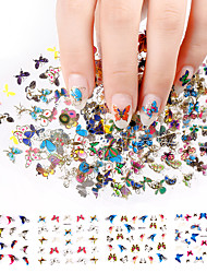 cheap -3D Nail Sticker 24Pcs Large Size Sheet Moon Butterfly Animal Pattern For Stamping Charms Bronzing Nail Art Decals