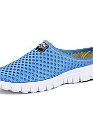 Masculino sapatos Tecido Borracha Verão Conforto Solados com Luzes Sandálias Para Casual Preto Azul Camel