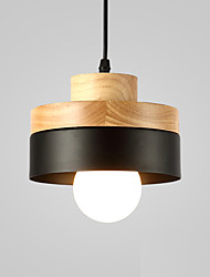 cheap -Northern Europe Simplicity Modern Wood Pendant Light Metal Living Room Dining Room Coffee Shop Bar Lighting