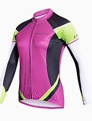 Realtoo Maglia da ciclismo Per donna Manica lunga Bicicletta Maglietta/Maglia Asciugatura rapida Traspirante Materiali leggeri Tasca