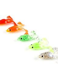 "cheap -5 pcs Soft Bait Fishing Lures Frog Orange Light Green Silver Red Dark Green g/Ounce,55 mm/2-1/4"" inch,Soft PlasticSea Fishing Spinning"