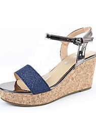 economico -Da donna-Sandali-Formale Casual-Comoda Club Shoes-Zeppa-Finta pelle-