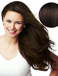 Ruban 20pcs dans les extensions de cheveux # 2 brun marron foncé brun 40g 16 pouces 20 pouces 100% cheveux humains pour femmes