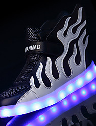 cheap -Boys' Shoes Tulle Summer Fall Comfort Light Soles Light Up Shoes Sneakers LED For Athletic Casual Outdoor Pink Black/White Black/Green