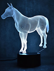 cheap -Horse Turtles Touch Dimming 3D LED Night Light 7Colorful Decoration Atmosphere Lamp Novelty Lighting Light