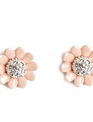Жен. Серьги-слезки Multi-камень Синтетический алмаз В виде подвески Цветочный принт Мода Euramerican Синтетические драгоценные камни