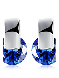 cheap -Women's Adorable AAA Cubic Zirconia Zircon / Silver Plated Stud Earrings - Personalized / Geometric / Unique Design Silver / Purple / Blue
