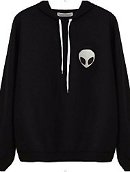 cheap -Women's Daily Going out Hoodie Solid Hooded Micro-elastic Cotton Long Sleeve Spring