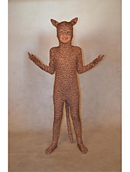 cheap -Zentai Suits Ninja Animal Cosplay Zentai Cosplay Costumes Brown Leopard Animal Print Leotard/Onesie Spandex Spandex Lycra Lycra Children's