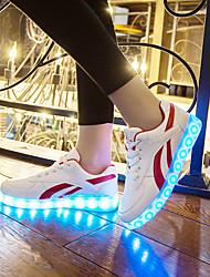 Masculino-Tênis-Solados com Luzes Light Up Shoes-Rasteiro-Preto Vermelho-Courino-Casamento Ar-Livre Escritório & Trabalho Social Casual
